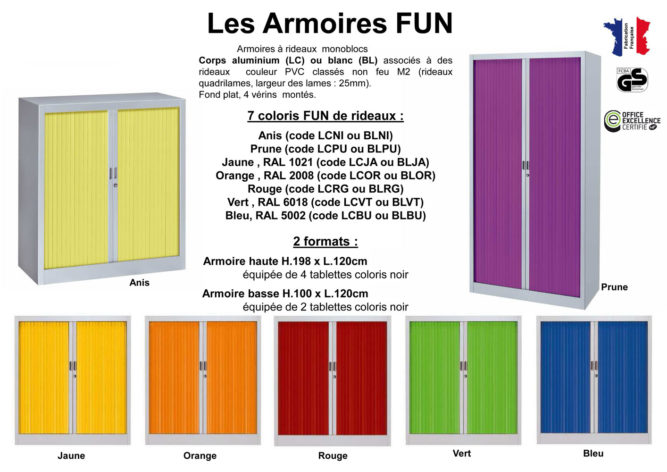 Armoire Fun à 14 couleurs