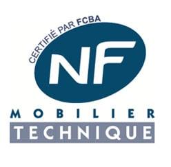 Norme NF Mobilier technique certifiée par FCBA