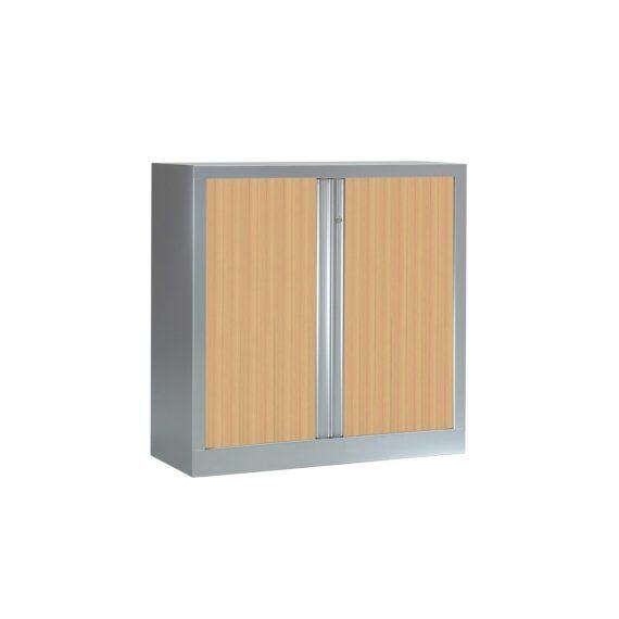 Armoire monobloc série PLUS H1000 x L1000 aluminium / chêne clair
