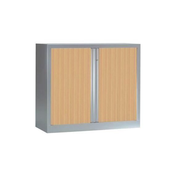 Armoire Série PLUS structure aluminium et rideaux chêne h100 l120