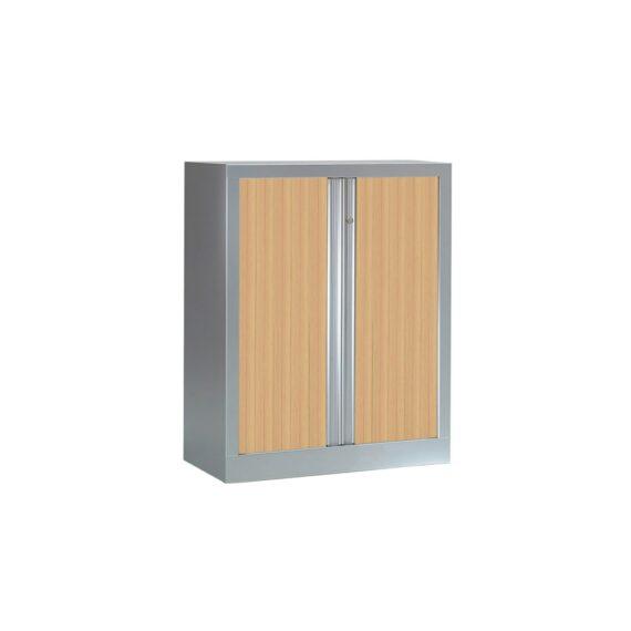 Armoire Série PLUS structure aluminium et rideaux chêne h100 l100