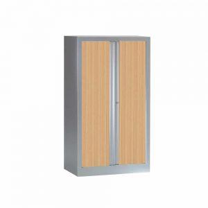 Armoire Série PLUS structure et rideaux anthracite h136 l80