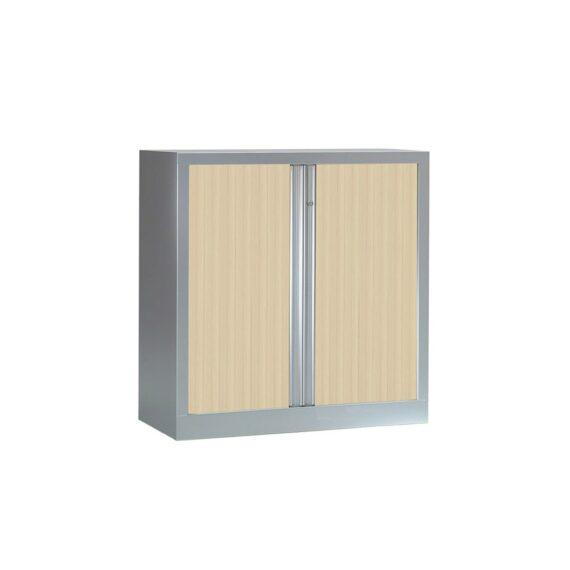 Armoire Série PLUS structure aluminium et rideaux érable h100 l100
