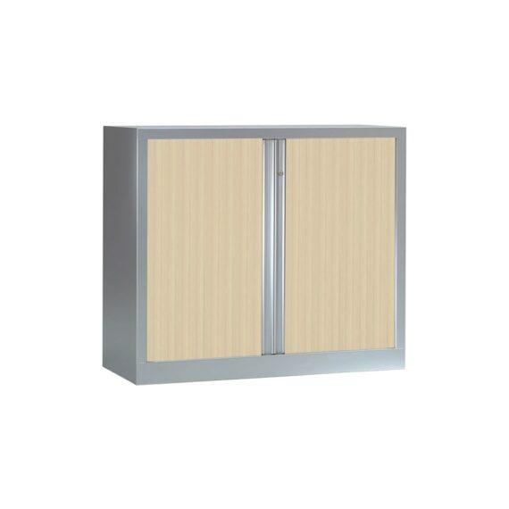 Armoire Série PLUS structure aluminium et rideaux érable h100 l120