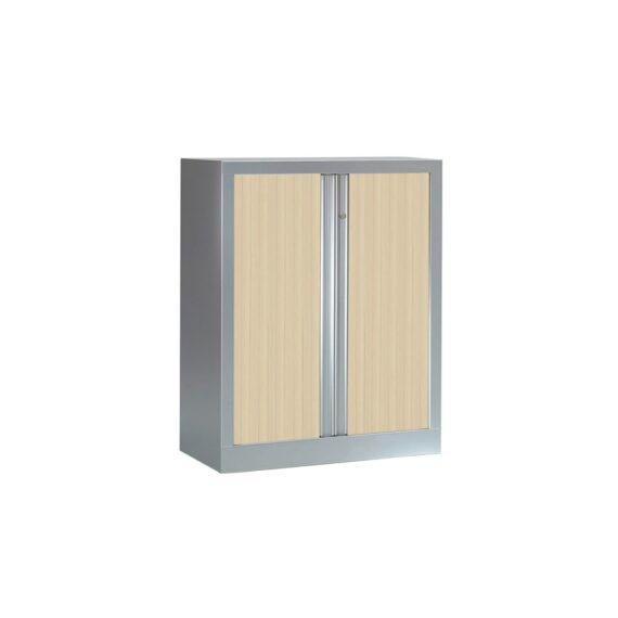 Armoire Série PLUS structure aluminium et rideaux érable h100 l80