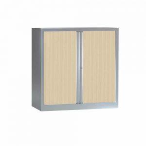 Armoire Série PLUS structure aluminium et rideaux érable h120 l120