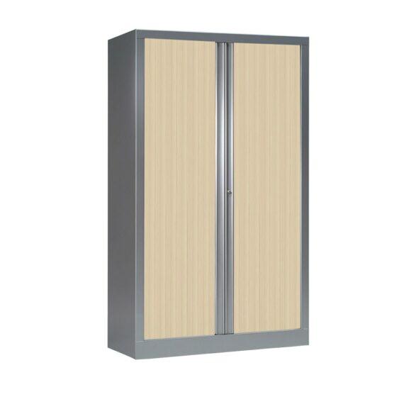 Armoire Série PLUS alu rideaux erable h160 l100