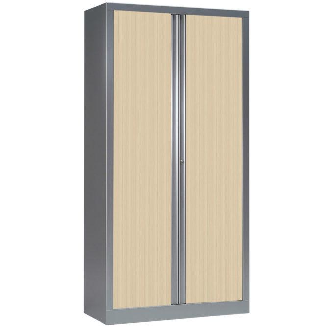 Armoire à rideaux h198 l100 aluminium erable