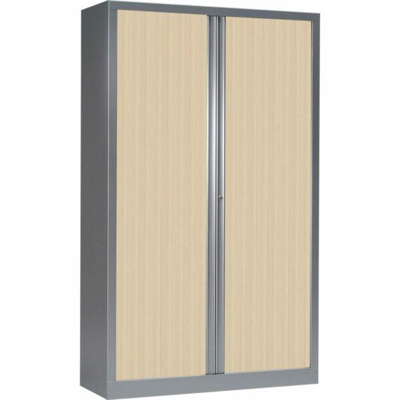 Une armoire Série PLUS 198 x 120 Aluminium Erable