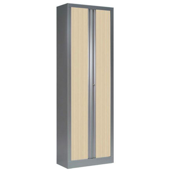 Armoire à rideaux série PLUS aluminium erable h198 l60