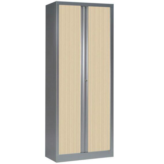 Armoire série PLUS aluminium rideaux erable h198 l80