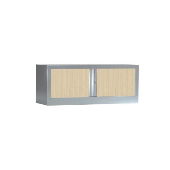 Armoire de bureau Série PLUS structure aluminium et rideaux érable h44 l120