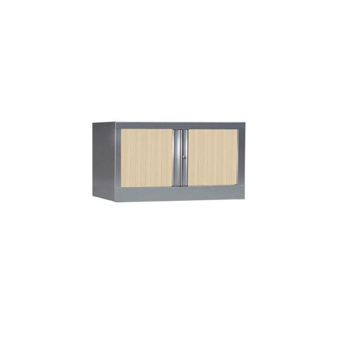 Armoire de bureau Série PLUS structure aluminium et rideaux érable h44 l80
