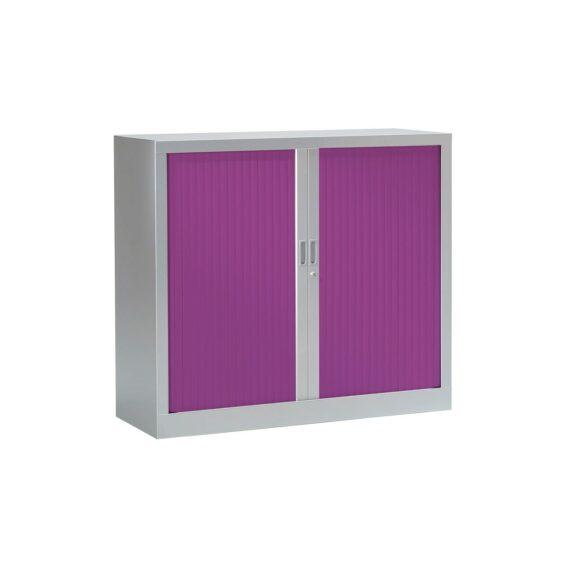 Armoire à rideaux couleur Alu / Prune