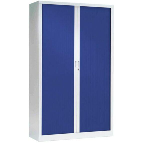 armoire a rideaux haute bleue