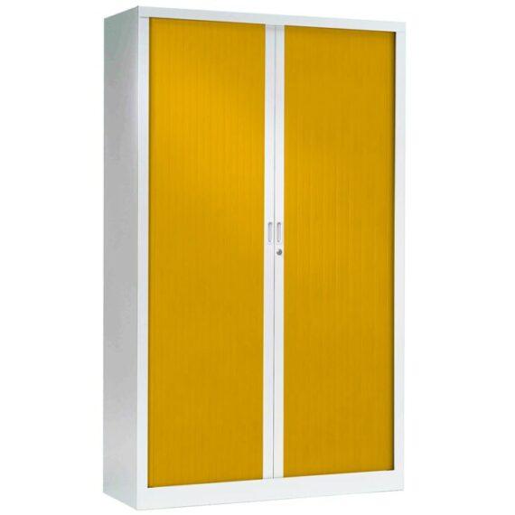 Armoire a rideaux haute jaune