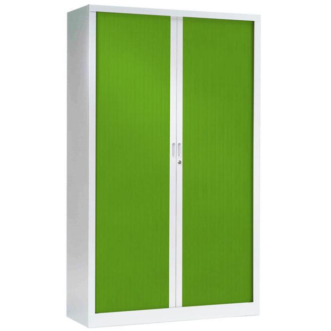 Armoire a rideaux verte