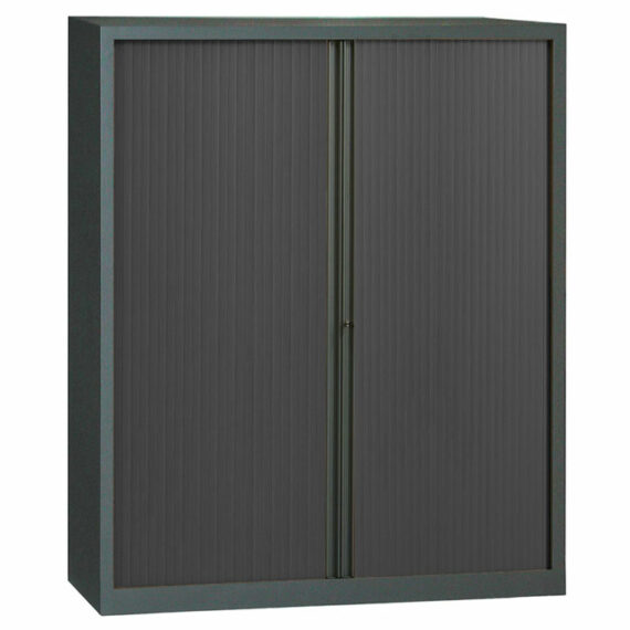 armoire a rideaux anthracite 198x160