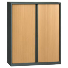 Armoire en KIT à monter grande largeur H1980 x L1600 anthracite / Hêtre
