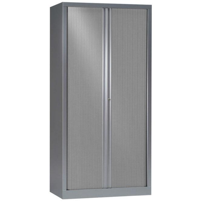 Armoire à rideaux série PLUS h198 l100 aluminium