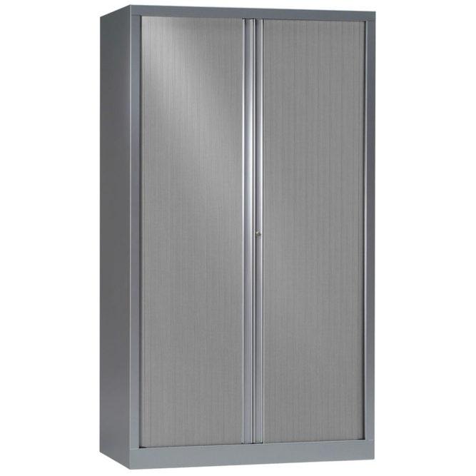 Une armoire Série PLUS 198 x 120 Corps et rideaux Aluminium