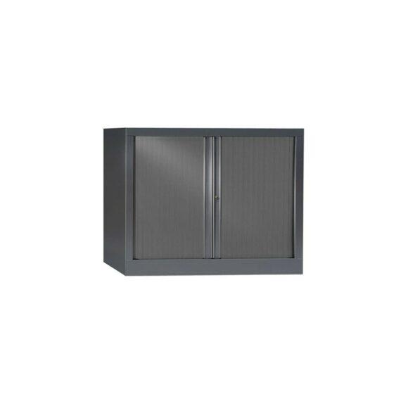 Armoire de bureau Série PLUS structure et rideaux anthracite h70 l100
