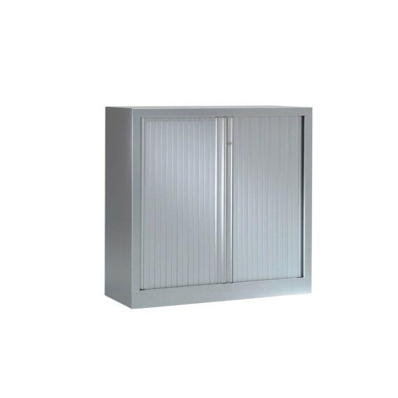 Armoire Série PLUS structure et rideaux gris h100 l100