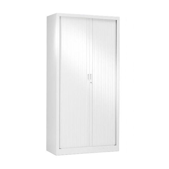 armoire a rideaux blanche porte coulissante