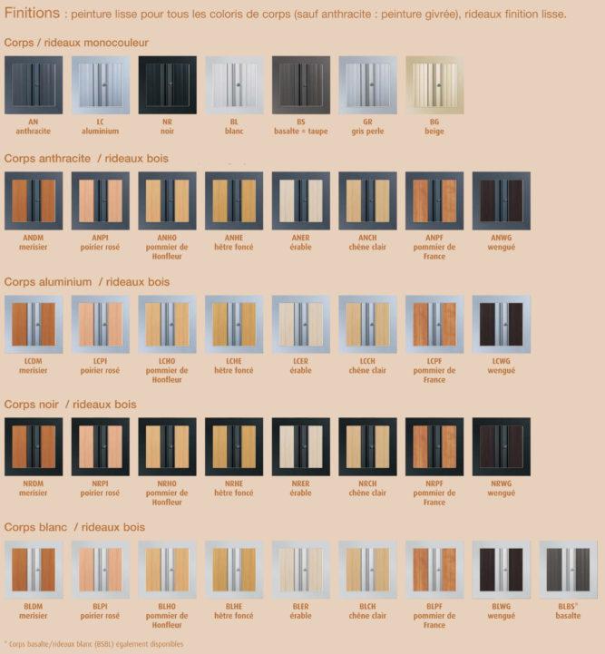 Série d'armoire à rideaux PLUS à 41 coloris