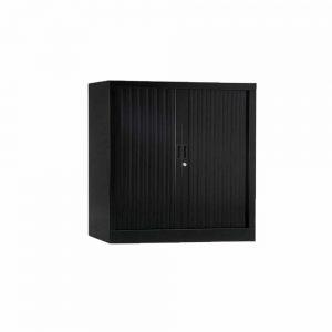 Armoire de bureau Série A structure et rideaux NOIR h100 l100