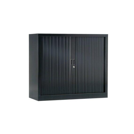 Armoire basse de bureau Série A anthracite h100 l120