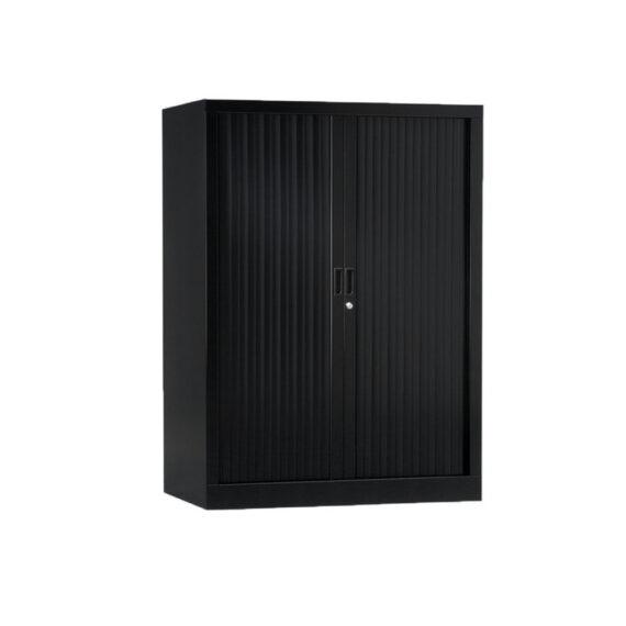 Armoire de bureau Série A noir h136 l100