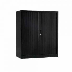 Armoire de bureau Série A noir h136 l120
