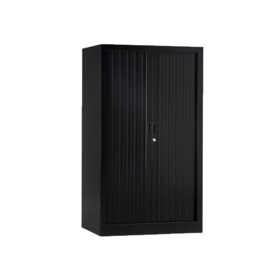 Armoire de bureau Série A noir h136 l80