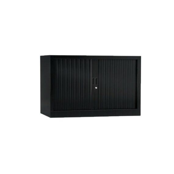 Armoire de bureau Série A structure et rideaux noir h70 l120