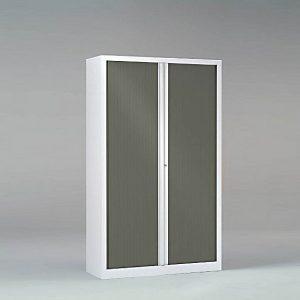 Une armoire Série PLUS 198 x 120 Corps et rideaux Anthracite