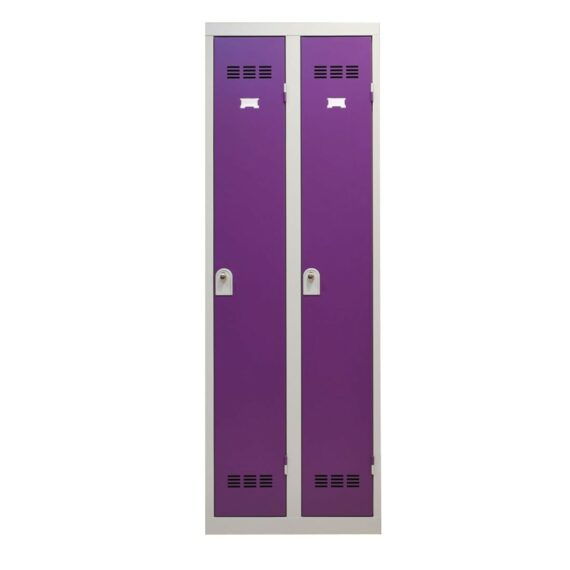 Vestiaire industrie propre 2 cases coloris prune