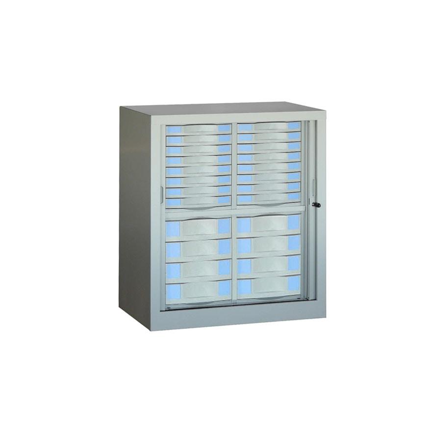 armoire rideaux s rie sdt h100 l85 24 tiroirs armoire plus. Black Bedroom Furniture Sets. Home Design Ideas