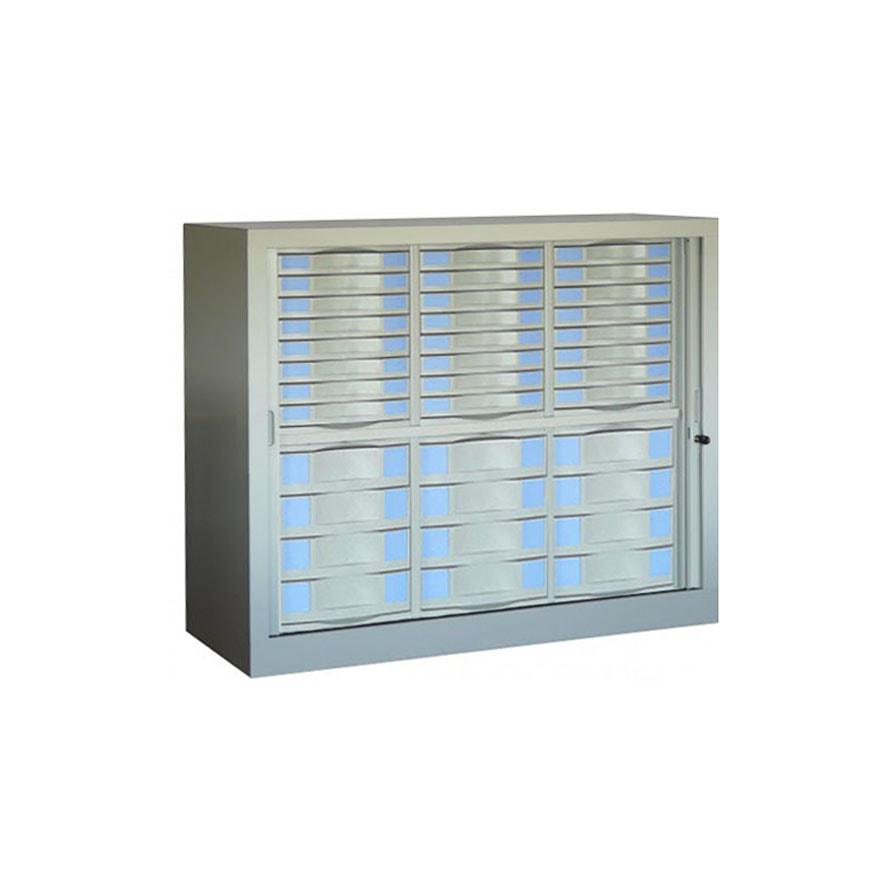 Armoire rideaux s rie sdt h100 l120 36 tiroirs for Armoire a tiroirs de bureau