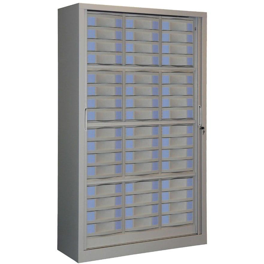 Armoire rideaux s rie sdt h198 l120 48 tiroirs for Armoire a tiroirs de bureau