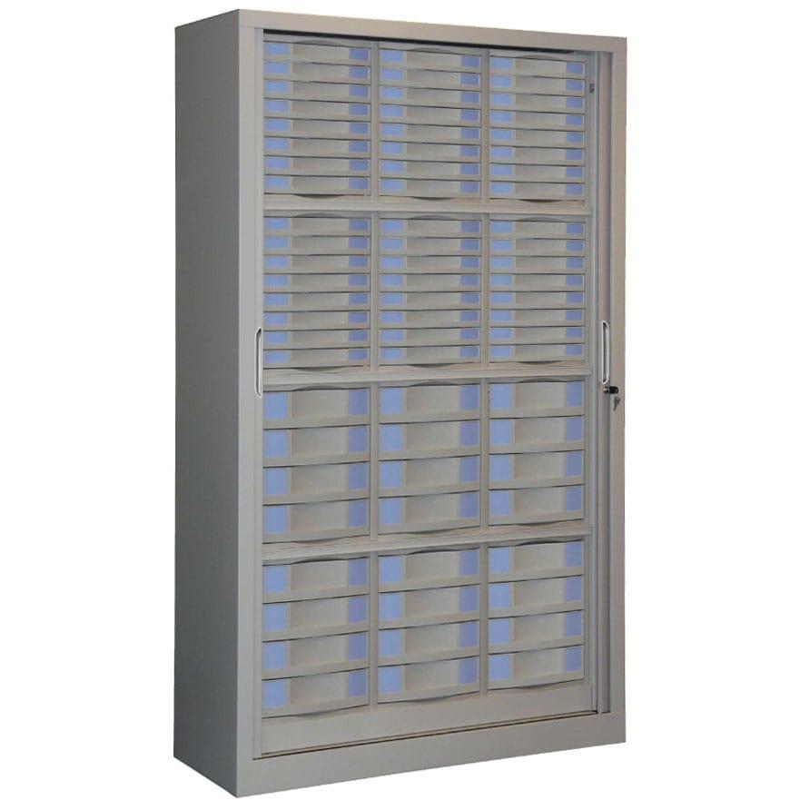 Armoire rideaux s rie sdt h198 l120 72 tiroirs for Armoire a tiroirs de bureau