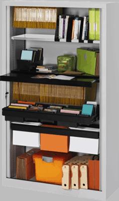 Un aménagement complet d'une armoire de bureau