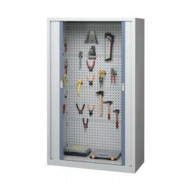 Armoire d'atelier à rideaux modèle 5 ouverte