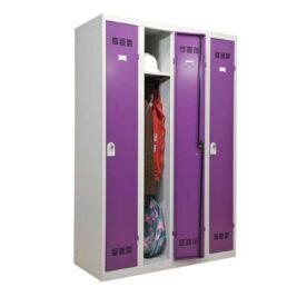 Vestiaire industrie propre 4 cases dont une ouverte coloris prune