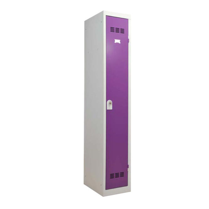Vestiaire industrie propre 1 case coloris prune