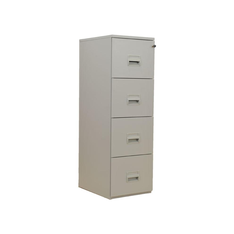 Classeur 4 tiroirs m tal dossiers suspendus armoire plus for Meuble classeur tiroir