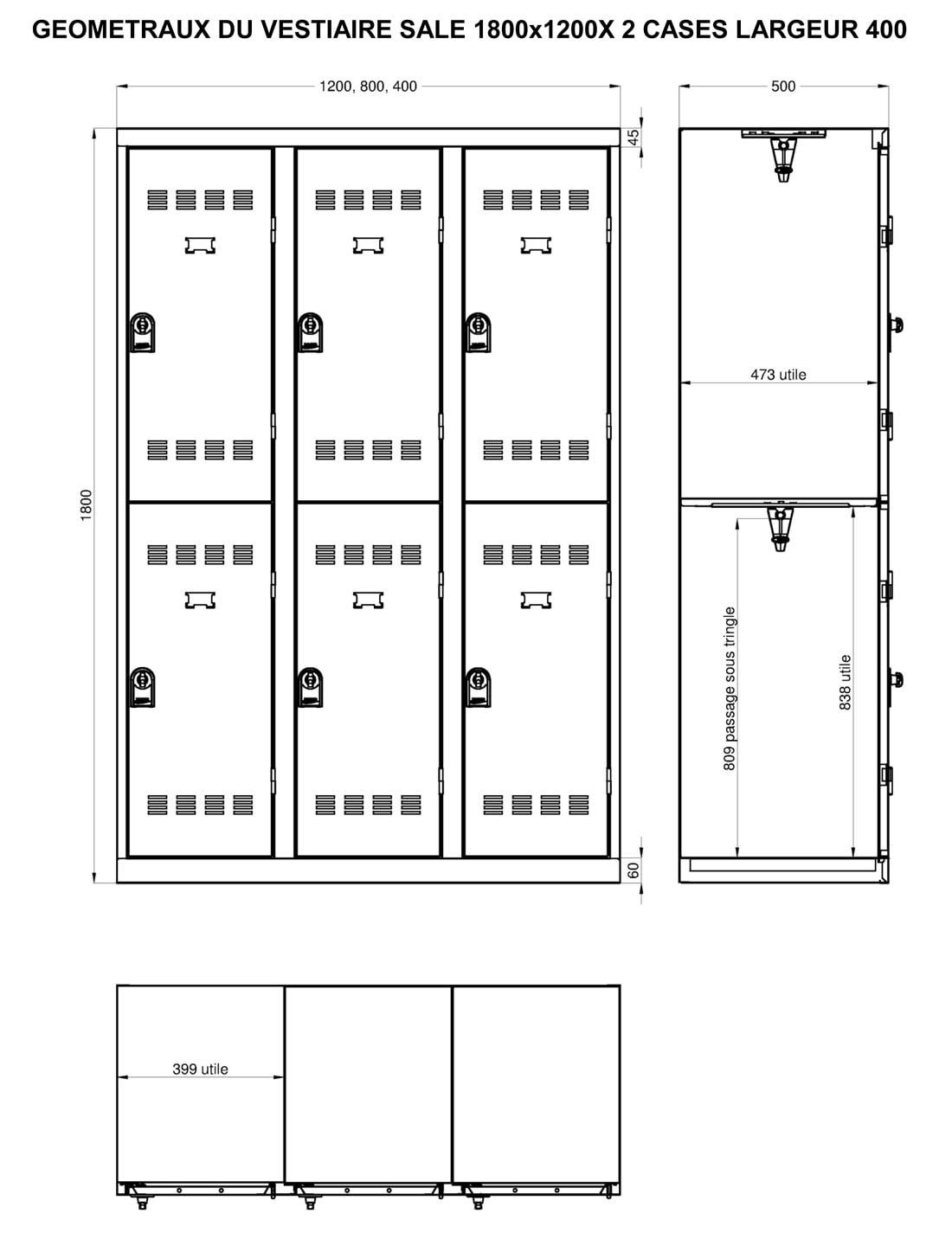 Préférence Armoire vestiaire métallique 2 cases | Armoire PLUS QW83