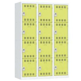 Vestiaire 4 cases 3 colonnes Largeur 400 coloris Anis