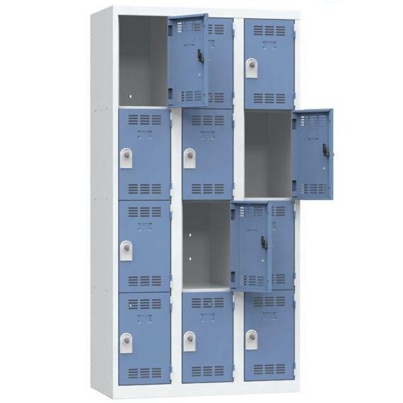 Vestiaire multicases 12 casiers Largeur 900 coloris Bleu