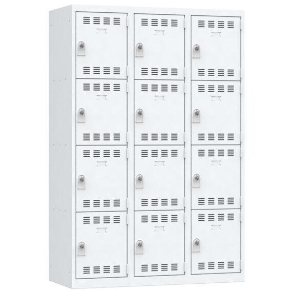 Vestiaire multicase 12 casiers Largeur 1200 coloris Gris Clair